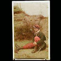 Antique 1909 Postcard, Soldier