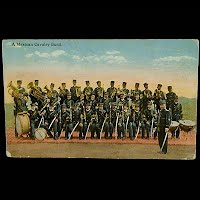 Antique Photochrom Postcard, Mexican Revolution, Mexican Cavalry Band