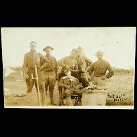 Antique Postcard, Company B, 56th Barber