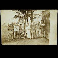 Antique Postcard, Military Camp Shaving