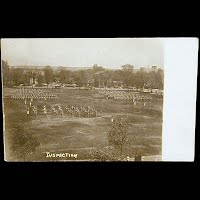 Antique Real Photo Postcard, Military Inspection