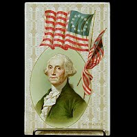 1909 Antique Postcard, George Washington Birthday
