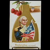 Antique Postcard, George Washington Birthday