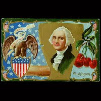 Antique Postcard, George Washington's Birthday