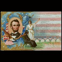 1911 Antique Postcard, Lincoln Centennial Birthday