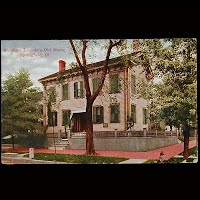 1910 Antique Postcard, Lincoln's Old Home