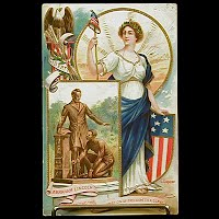 1909 Antique, Postcard Lincoln Centennial Birthday