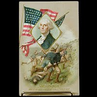 1910 Antique Postcard, George Washington