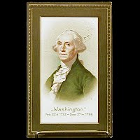 1910 Antique Postcard, George Washington Birthday