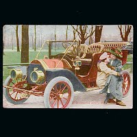 1910 Antique Auto Postcard, If it Could Only Be