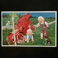 1909 Embossed Antique Auto Postcard,  It's not Right