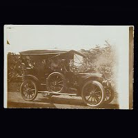 Antique Photo Postcard, Auto: Redwood Falls