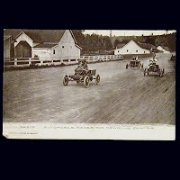 Antique Photo Postcard, Automobile Races The meadows, Seattle