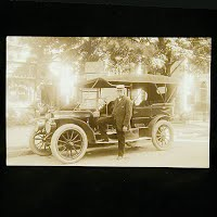 Antique Photo Postcard, Auto