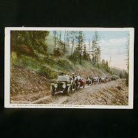 Antique Postcard, Black & Yellow Trail in Ice Box Canon, Black Hills SD