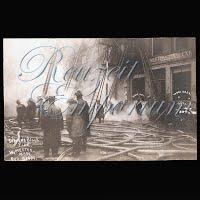Antique Fire Postcard, Worcester, Steven's block 1906