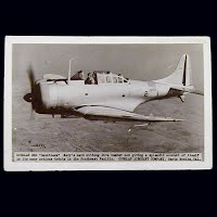 Antique Photo Postcard, Douglas SBD Airplane