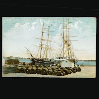 1910 Antique Postcard, Old Warf Whaling Scene New Bedford