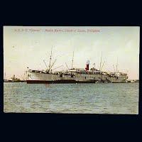 Antique Postcard, USA T. Thomas at Manila Harbor