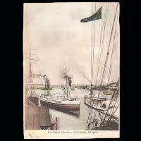 Antique Post Card, Portland Harbor, Portland, Oregon Germany 1904