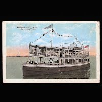 Antique Ship Transportation Post Card, Excursion Boat Galvez, Galveston, Texas, Seawall Specialty Publisher
