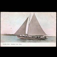 Antique Ship Transportation Post Card, Golden Rule Okoboji Lake, Iowa, MS Publisher