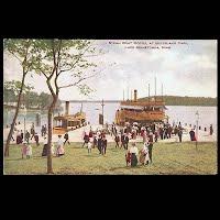 Antique Ship Transportation Post Card, Steam Boat Docks,Lake Minnetonka, Minn, Hammon Publisher