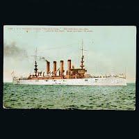 Antique Postcard, US Armored Cruiser Pennsylvania