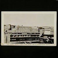 Antique Photo Postcard, Jersey Central Engine 1206 Elizabethport Station
