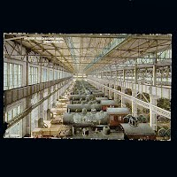Antique Photo Postcard, Interior Frisco Railway Shops Springfield MO