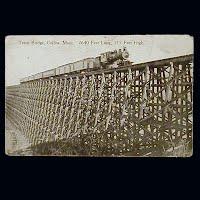 Antique Postcard, Teton Bridge Collins Montana