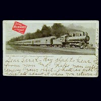 1904 Antique Postcard, The Overland Limited Train