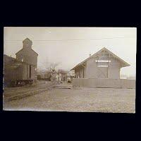 Antique Postcard, Train Depot at Milton