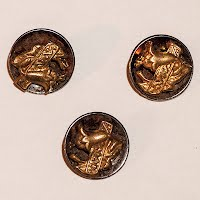 Antique Silver and Gold Flower Buttons