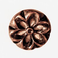 Antique Black and Gold Carved Button