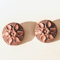 Antique Painted Flower Buttons
