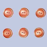 Vintage two layer tangerine Buttons