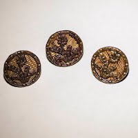 Antique Round Metal Buttons (3)