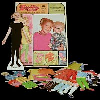 Vintage 1968 Buffy Paper Doll with Mrs. Beasley Doll, Whitman Publishing