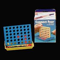 Vintage Milton Bradley Connect Four Travel Game