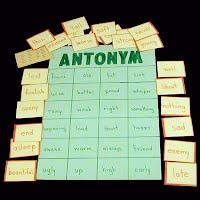 Teacher Made Educational Antonym Matching Game