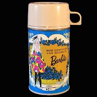 Vintage 1971 World of Barbie Lunchbox Thermos