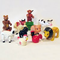 Vintage Plastic Animals Hong Kong
