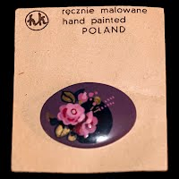 Vintage Enamel Hand Painted Poland Pin