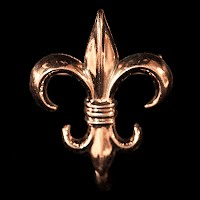 Antique metal Fleur de Lis Watch Pin