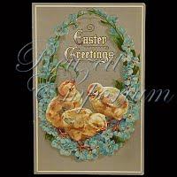 Antique German Easter Postcard 1913