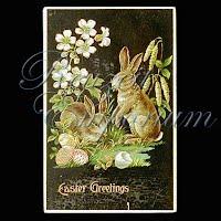 Antique Gel Easter Post Card 1910