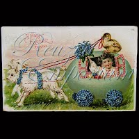Antique German Easter Postcard 1909