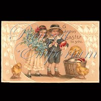 Antique German Easter Postcard