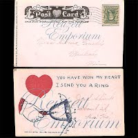 Antique Valentine Postcard 1902 undivided back